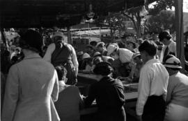 [A bingo game at the Pacific National Exhibition midway at Hastings Park]