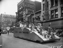 City of North Vancouver float in 1953 P.N.E. Opening Day Parade