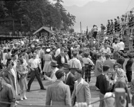 [People on the dock at Bowen Island]