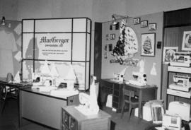 MacGregor Drygoods display of Brother sewing machines and knitting supplies