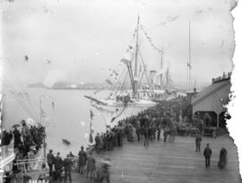 "First arrival of S.S. ""Empress of India"" in Vancouver, B.C. April 28th 1891 (property o..."