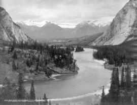 Bow River Valley from C.P.R. Hotel, Banff