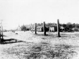 Early house poles at Musqueam