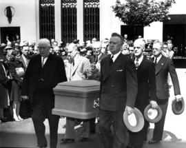Pallbearers at funeral of Mayor L.D. Taylor