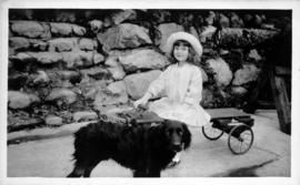 Cecily R. Hunt with dog in South Vancouver