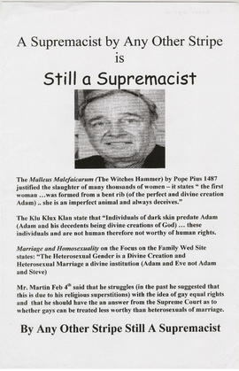 A supremacist by any other stripe is still a supremacist [Paul Martin]