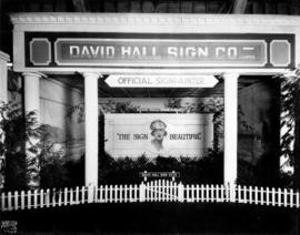 David Hall Sign Co. display