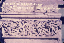 . . . was pointed out by R. Hassel in a UBC Architectural Undergraduate report