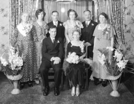 [Unidentified wedding group]