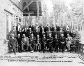 [Group of men who attended a luncheon honouring Captain W.D. Jones]