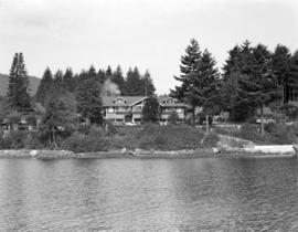 [View of the Bowen Island Inn taken from the water]