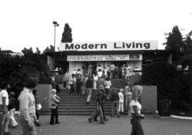 Entrance to Modern Living exhibits and displays
