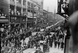 Funeral procession through Chinatown