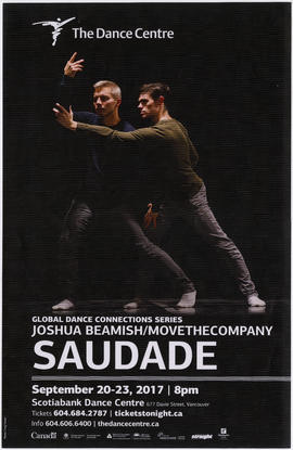 Saudade : September 20-23, 2017 : The Dance Centre