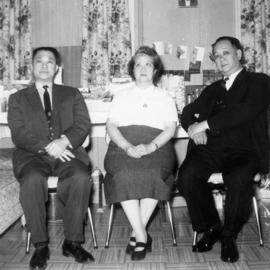 Lillian Ho Wong and Foon Wong at the family home of groom Dan Wong in Vancouver