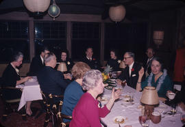 N[orth] end of table [at] inauguration dinner, B. Athertons, Wilsons