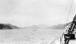 Our trip on S.S. Pr[ince] George : Leaving Bute Inlet