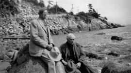 Bliss Carman and Dr. Ernest Fewster while on a picnic in West Vancouver