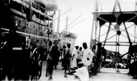 P & O Boat, Penang - Natives returning to India