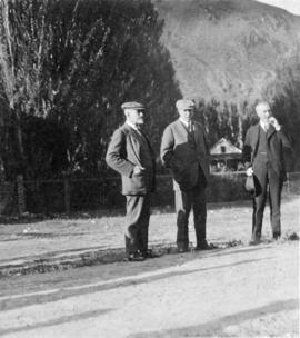 At Spences Bridge: Sir William MacKenzie, Mr. D.B. Hanna, Mr. M.H. McLeod