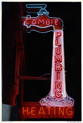 Cambie Plumbing and Heating neon sign
