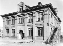 [Exterior of Central School at the corner of Cambie Street and Pender Street]