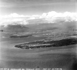 [Aerial view of Point Grey looking east]