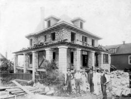 [The house at 2293 West 2nd Avenue under construction]
