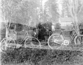[Group with bicycles in Stanley Park]