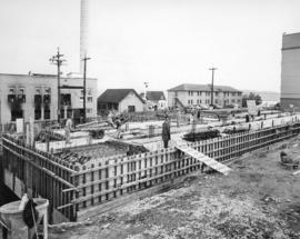 [Job no. 859 : photograph of Nurses' Residence under construction at Royal Columbian Hospital]