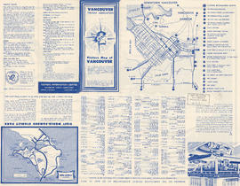 Visitors map of Vancouver ; world famous Stanley Park ; downtown Vancouver