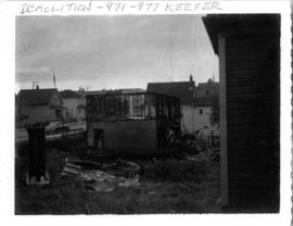 Demolition, 971-977 Keefer