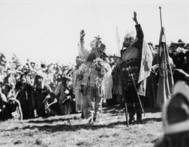 Indians welcome Vikings, Brockton Point, July 25th 1936
