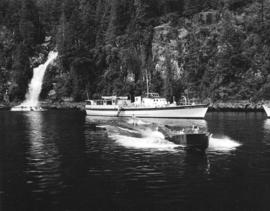 [Water skiing on Princess Louisa Inlet]