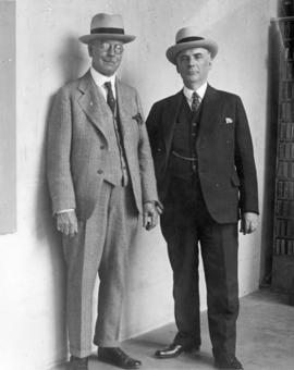 [L.D. Taylor with George J. Fowler at the L.A. Express office]