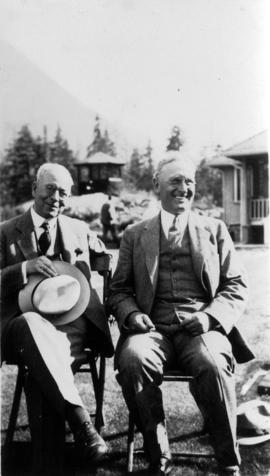 [L.D. Taylor and Water Commissioner at Seymour Falls]