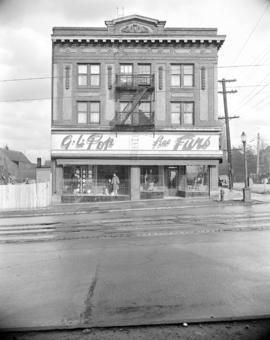 [Exterior view of the G.L. Pop Fine Furs, 2152 Main Street