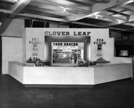 Clover Leaf display of canned seafood products