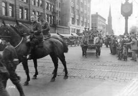 [Military parade on Georgia Street]
