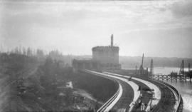 [View of Alberta Wheat Pool elevator under construction]