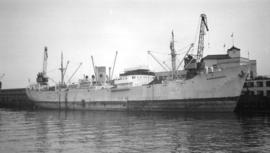 "M.S. Narrandera [at dock, at Pier ""B""]"