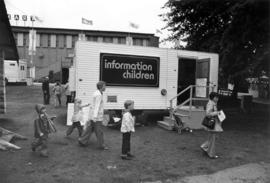 Information Children trailer by Pacific Showmart building
