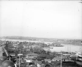 [View of Victoria, B.C., from the Parliament Buildings]