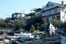 [View from beach of Kitsilano waterfront properties]