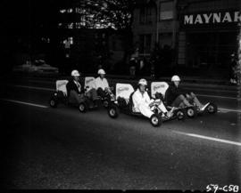 Power Kart go-karts in 1959 P.N.E. Opening Day parade