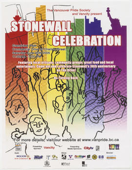 The Vancouver Pride Society and Vancity present Stonewall Celebration : Grandview Park : Saturday...