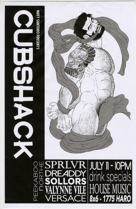 Matt Santoro presents Cubshack : July 11 : Eight X Six, 1775 Haro Street