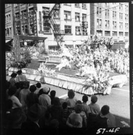 Burnaby Centennial Project float in 1957 P.N.E. Opening Day Parade