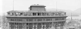 [View of the second Hotel Vancouver's roof garden]