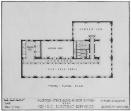 Proposed office bldg. & show rooms for the B.C. Electric Rlwy Co. Ltd. : typical floor plan